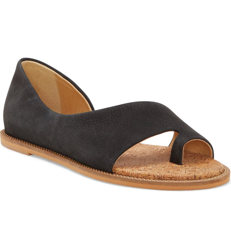 LUCKY BRAND Falinda Sandal, Main, color, BLACK LEATHER