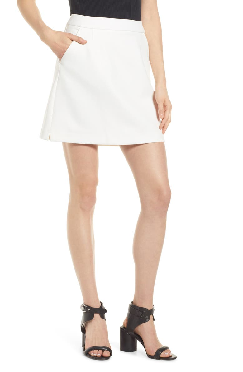 FRENCH CONNECTION Adisa Sundae Suiting Skirt, Main, color, SUMMER WHITE