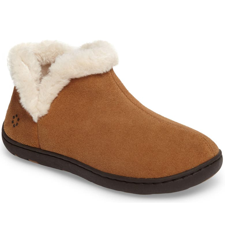 TEMPUR-PEDIC<SUP>®</SUP> Vallery Bootie Slipper, Main, color, HASHBROWN SUEDE
