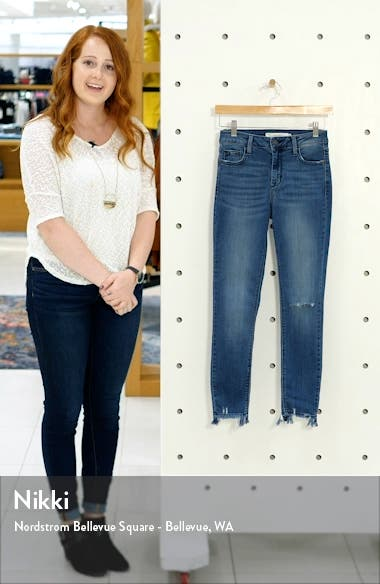 Ripped Stretch Ankle Skinny Jeans, sales video thumbnail