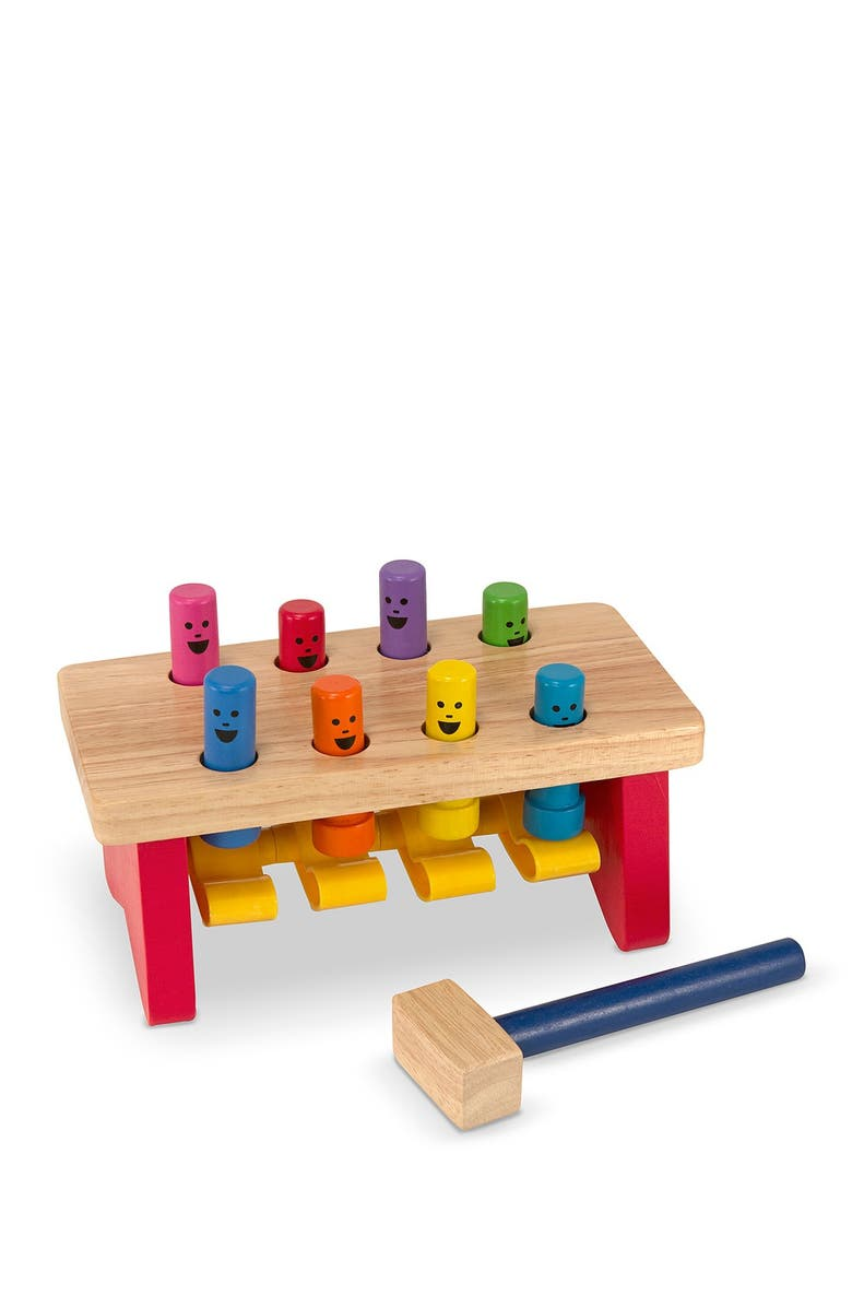 MELISSA AND DOUG Deluxe Pound-a-Peg Workbench, Main, color, MULTI