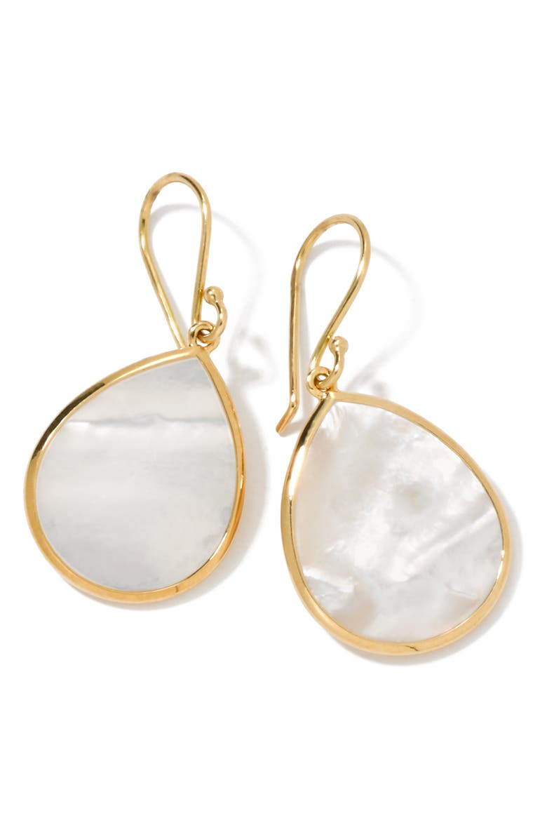 IPPOLITA 'Rock Candy - Mini Teardrop' 18k Gold Earrings, Main, color, YELLOW GOLD/ MOTHER OF PEARL
