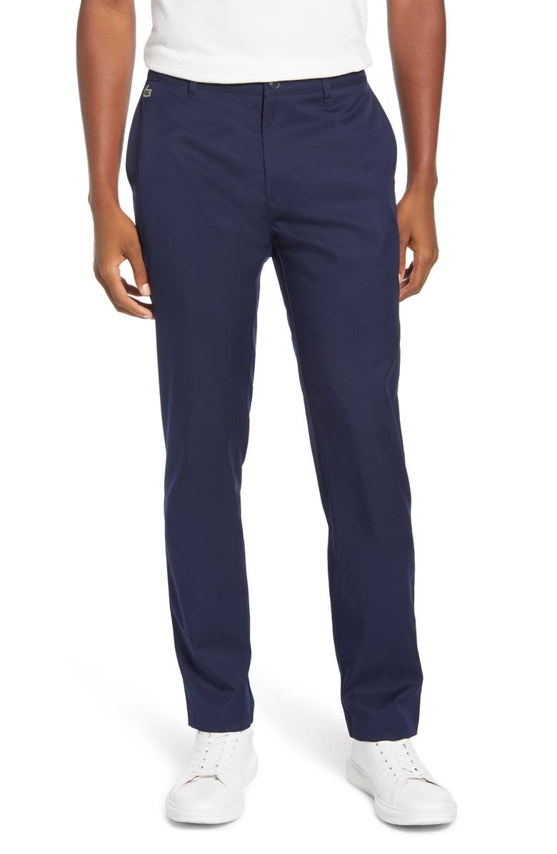 LACOSTE Ultra Dry Straight Leg Golf Pants, Main, color, 410