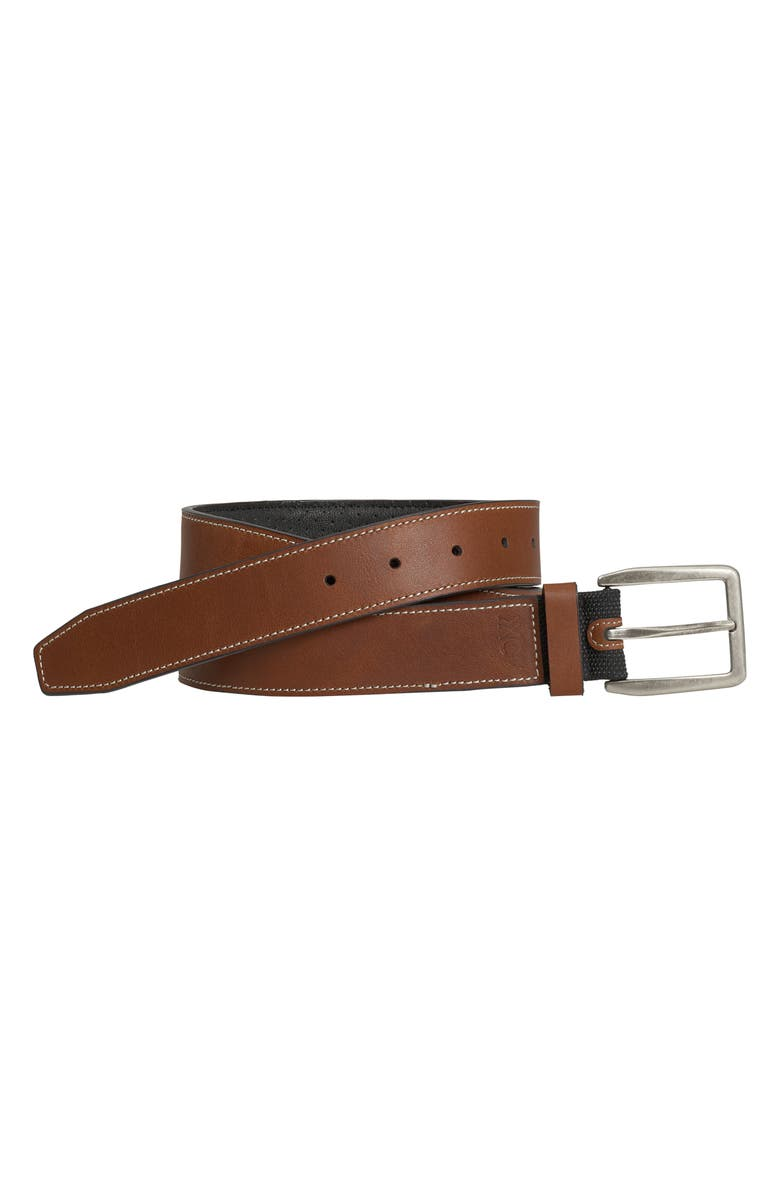 JOHNSTON & MURPHY XC4 Waterproof Leather Belt, Main, color, TAN LEATHER