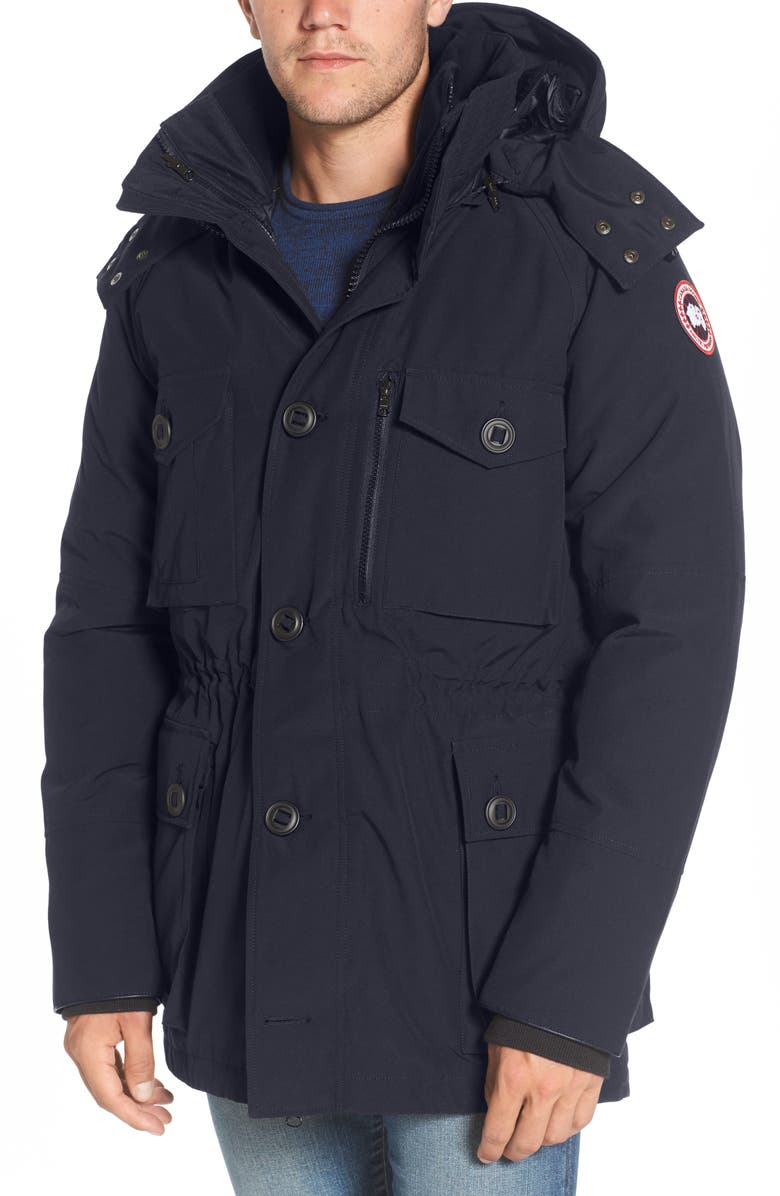 CANADA GOOSE Drummond Regular Fit 3-In-1 Parka, Main, color, ADMIRAL BLUE