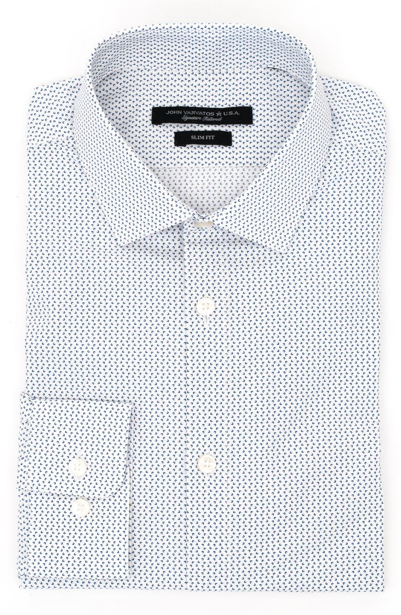 JOHN VARVATOS STAR USA Slim Fit Wrinkle Resistant Dress Shirt, Main, color, 405