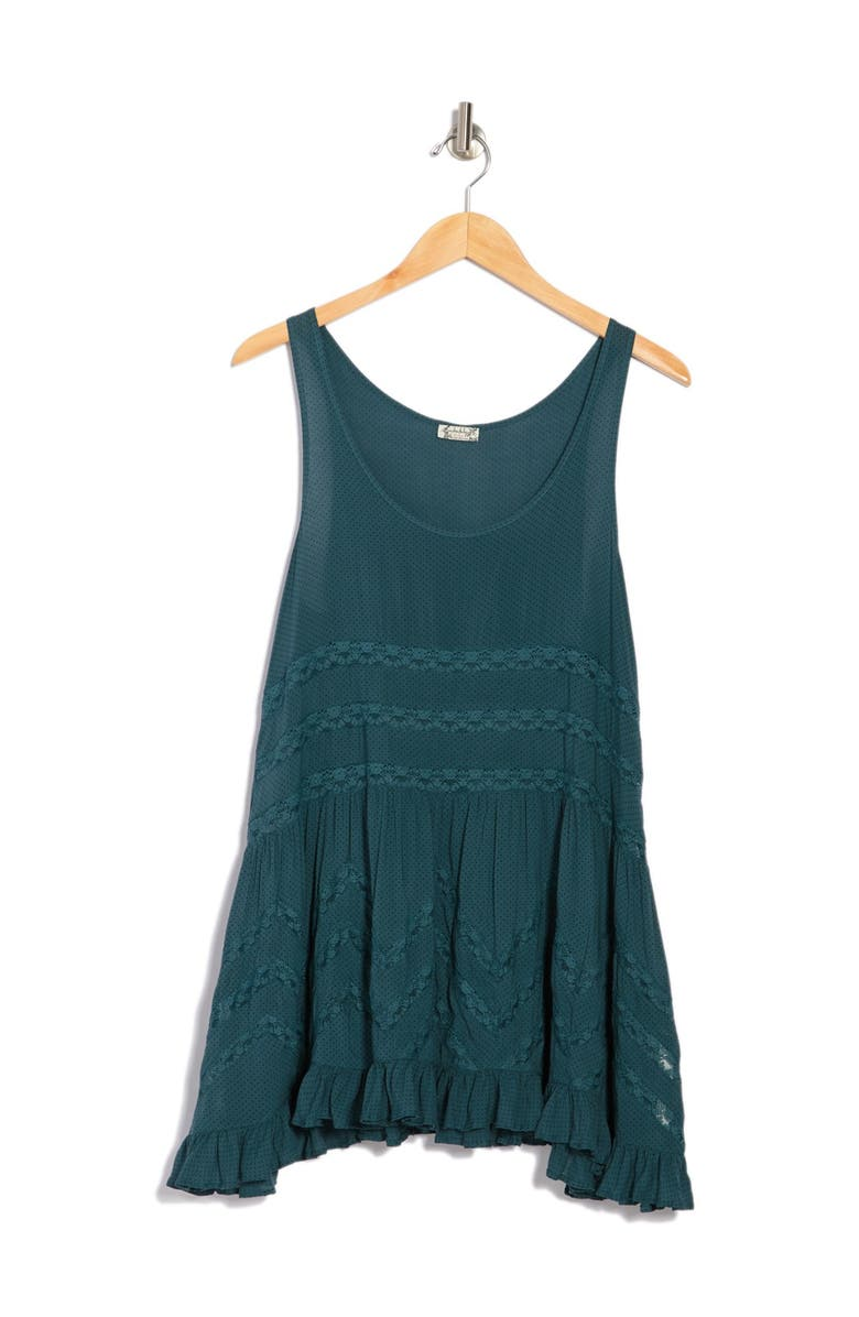 FREE PEOPLE Swingy Lace Inset Tunic, Main, color, 440