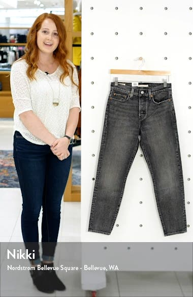Wedgie Icon Fit High Waist Ankle Straight Leg Jeans, sales video thumbnail