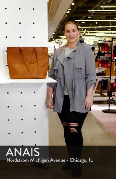 Zip Top Transport Leather Tote, sales video thumbnail