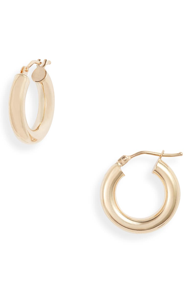 BONY LEVY Essentials 14K Gold Smooth Hoop Earrings, Main, color, YELLOW GOLD