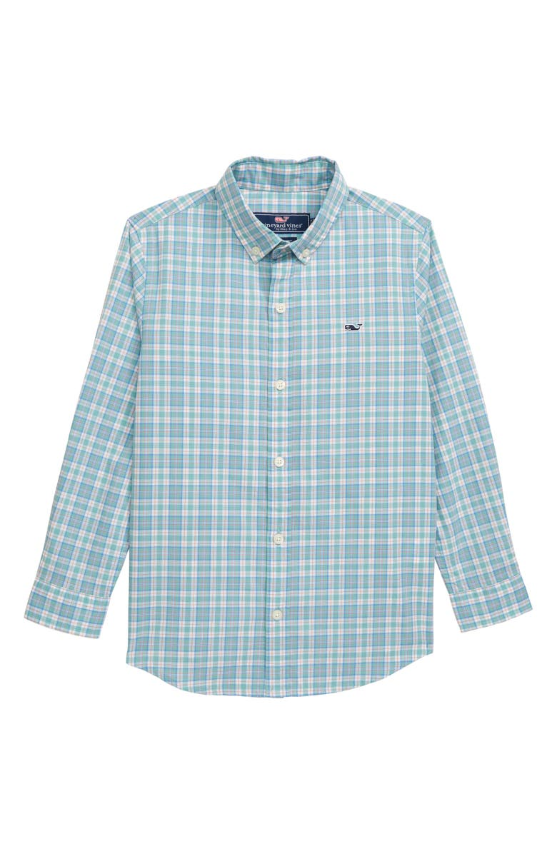 VINEYARD VINES Tartan Plaid Whale Shirt, Main, color, 317