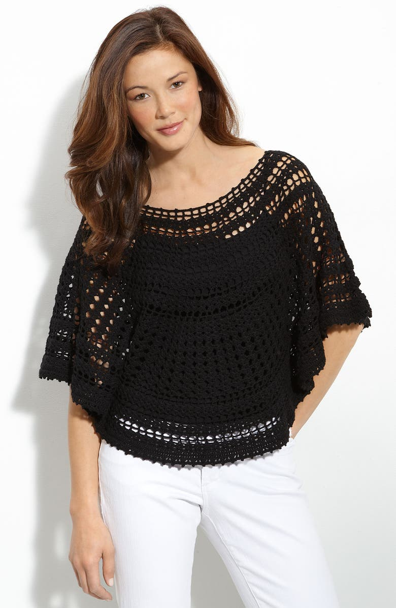 ONE A Crochet Poncho, Main, color, 001