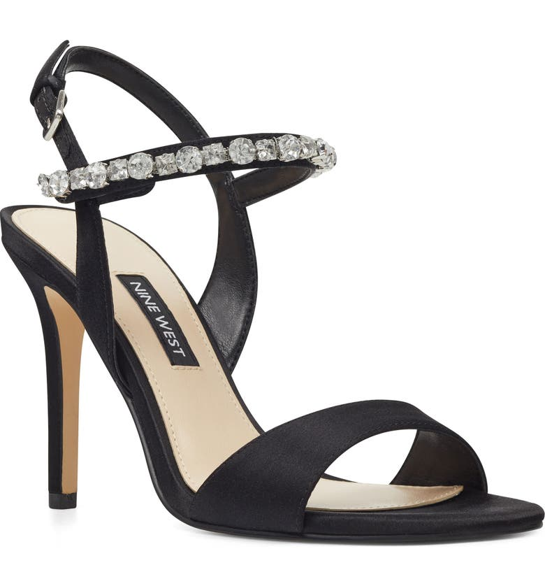 NINE WEST Madison Crystal Embellished Sandal, Main, color, 001