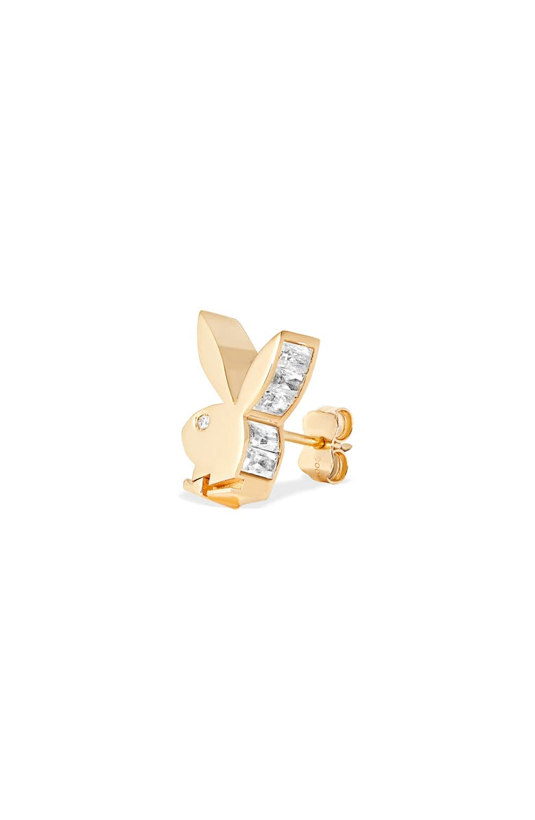 HATTON LABS Bunny Baguette Stud Earrings, Main, color, Gold
