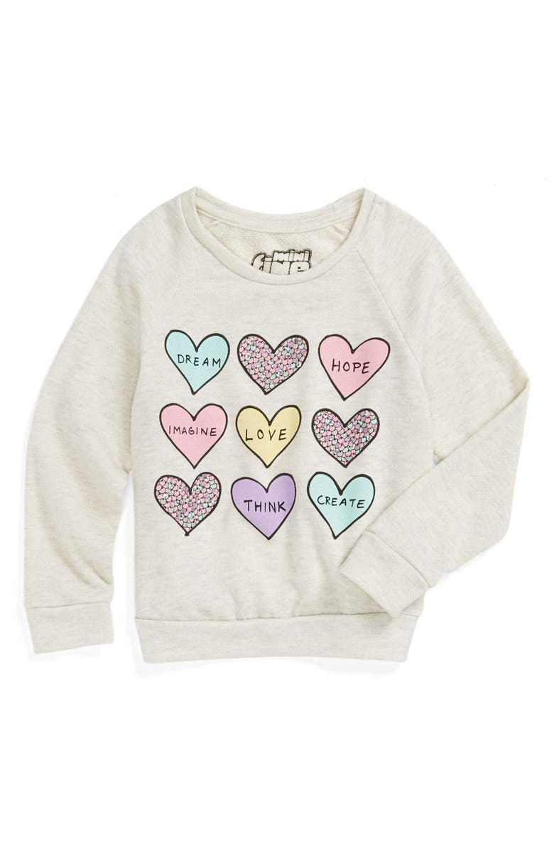 MIGHTY FINE 'Love Dream Heart' Sweatshirt, Main, color, 900