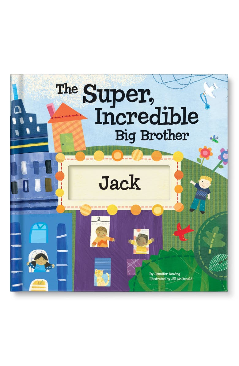I SEE ME! 'The Super, Incredible Big Brother' Personalized Hardcover Book & Medal, Main, color, BLUE