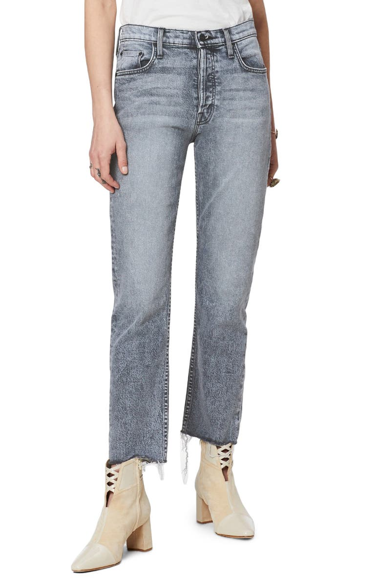 MOTHER The Tomcat High Waist Fray Ankle Straight Leg Jeans, Main, color, 020