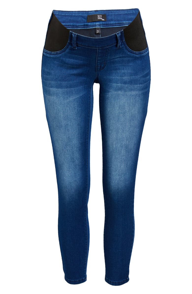 1822 DENIM Butter Skinny Maternity Jeans, Main, color, DONNA
