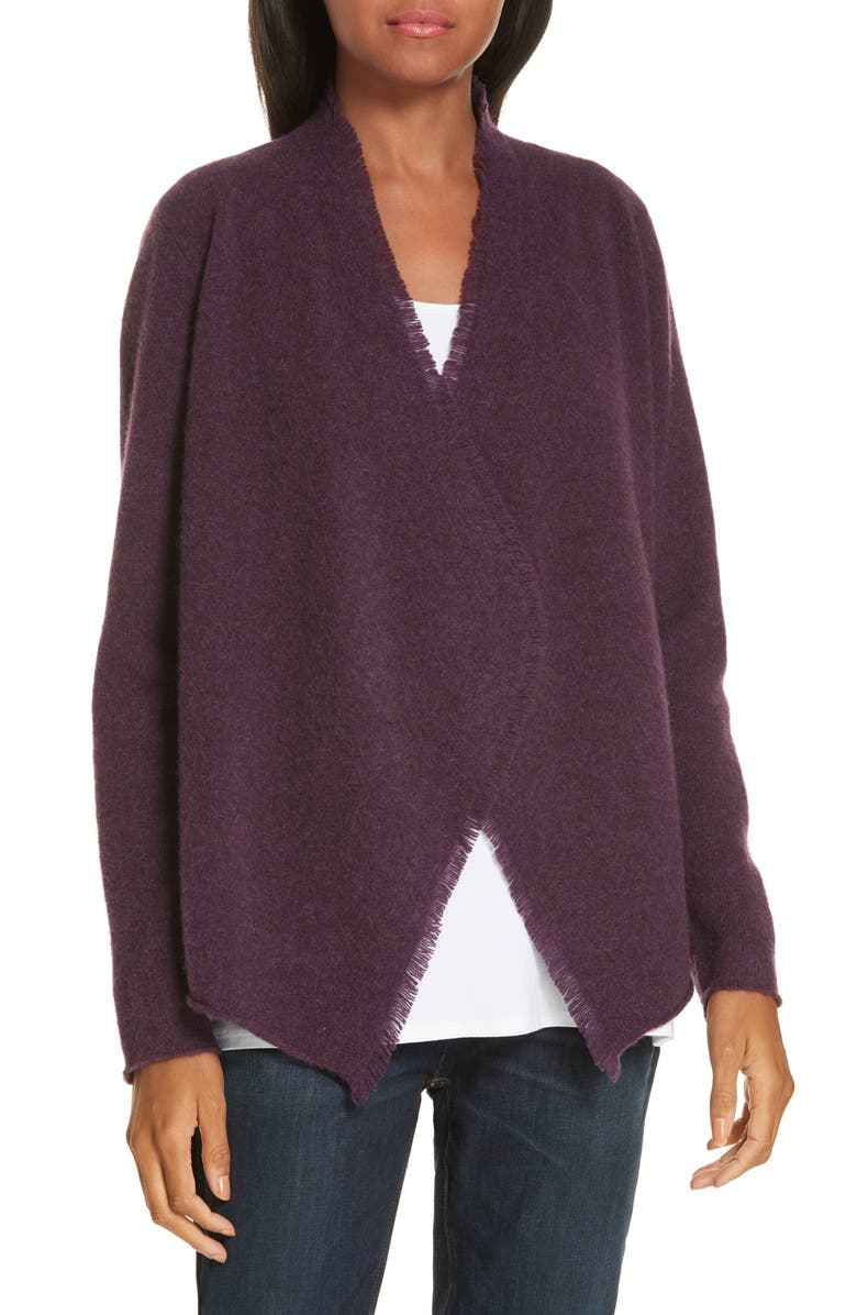 EILEEN FISHER Felted Merino Lambswool Cardigan, Main, color, 504