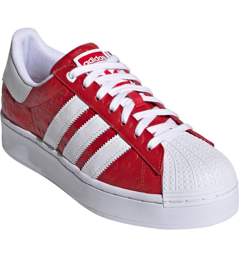 ADIDAS Superstar Bold Valentines Sneaker, Main, color, SCARLET/ CORE BLACK/ WHITE
