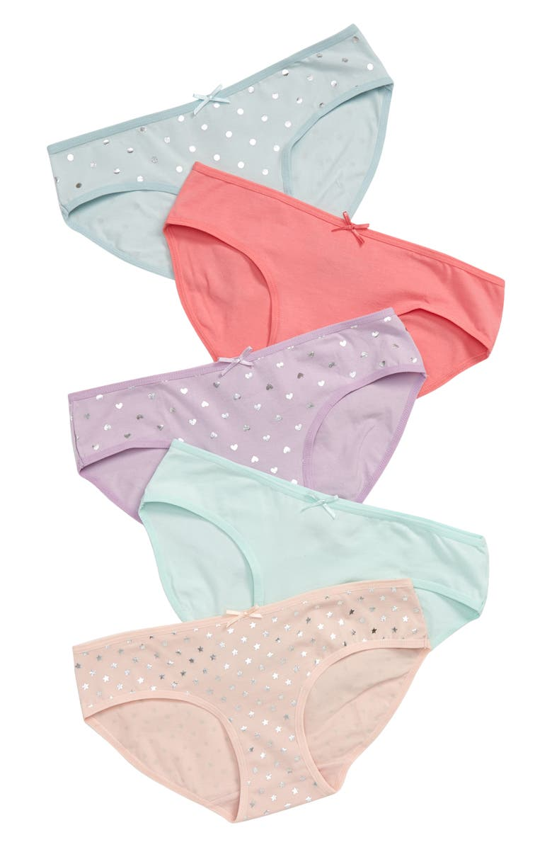TUCKER + TATE Kids' 5-Pack Hipster Briefs, Main, color, FUN FOIL PACK