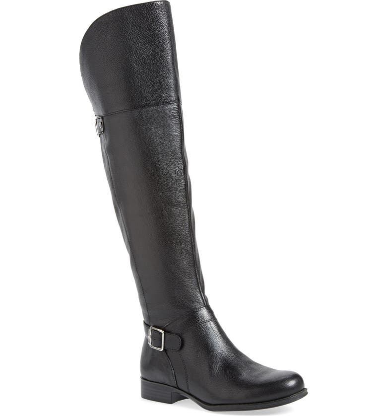 NATURALIZER 'July' Over the Knee Boot, Main, color, BLACK LEATHER