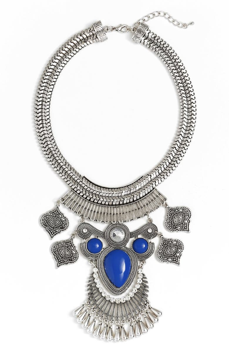 ROVE + PEARL 'Shield' Collar Statement Necklace, Main, color, 049