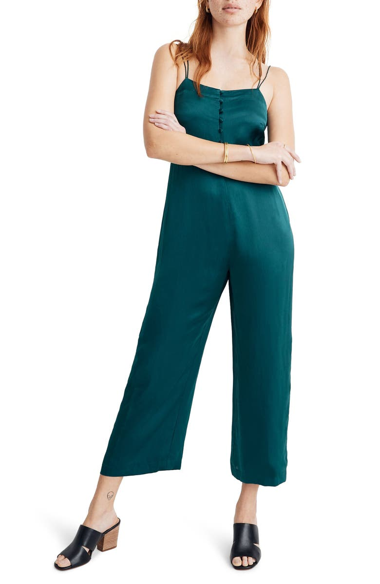 MADEWELL Strappy Satin Jumpsuit, Main, color, 300