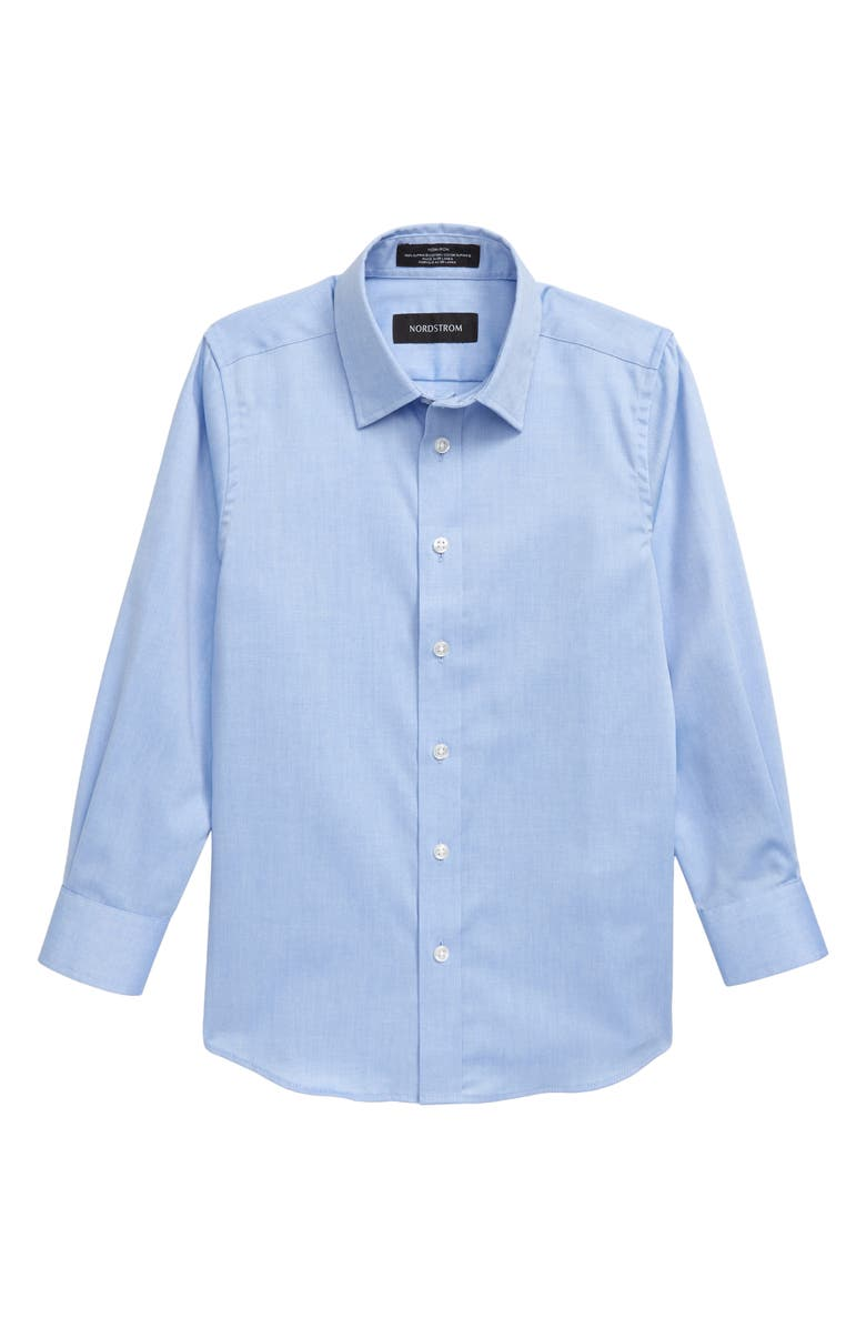NORDSTROM Solid Dress Shirt, Main, color, BLUE AZURITE