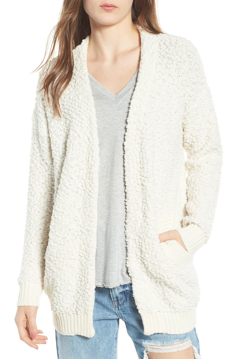 DREAMERS BY DEBUT Nubby Cardigan, Main, color, IVORY