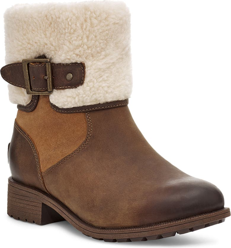UGG<SUP>®</SUP> Elings Waterproof Wool Boot, Main, color, CHESTNUT LEATHER