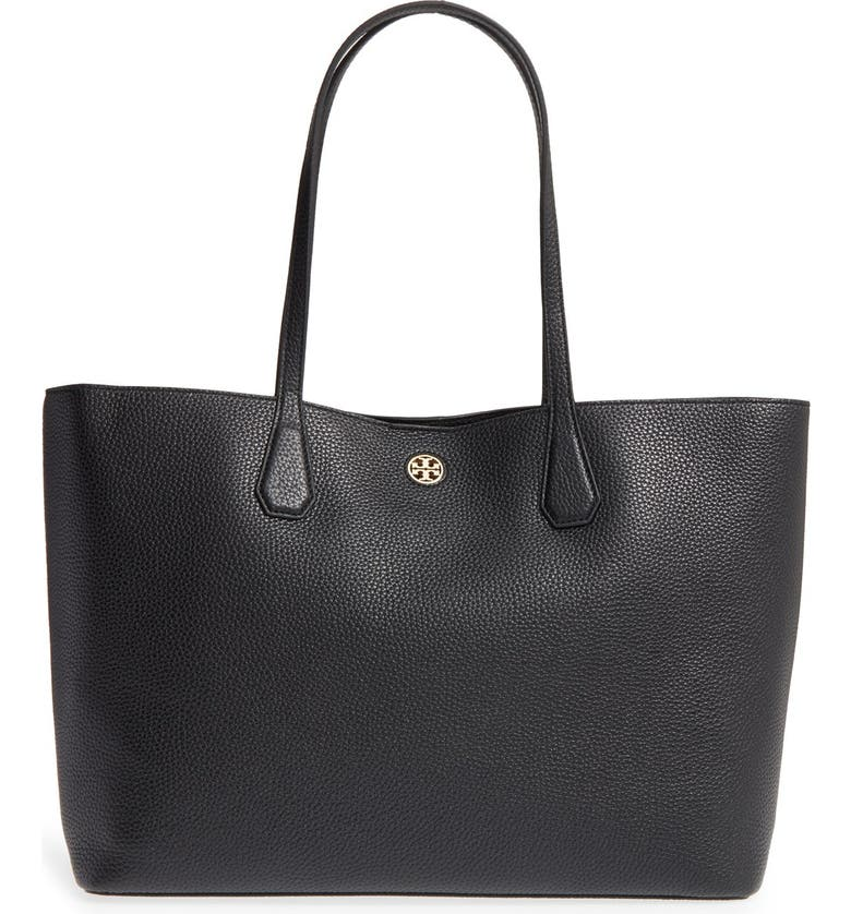 TORY BURCH 'Perry' Leather Tote, Main, color, 002