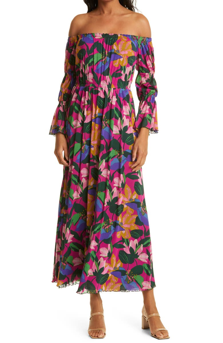 DVF Cheryl Floral Maxi Dress, Main, color, OASIS SMALL