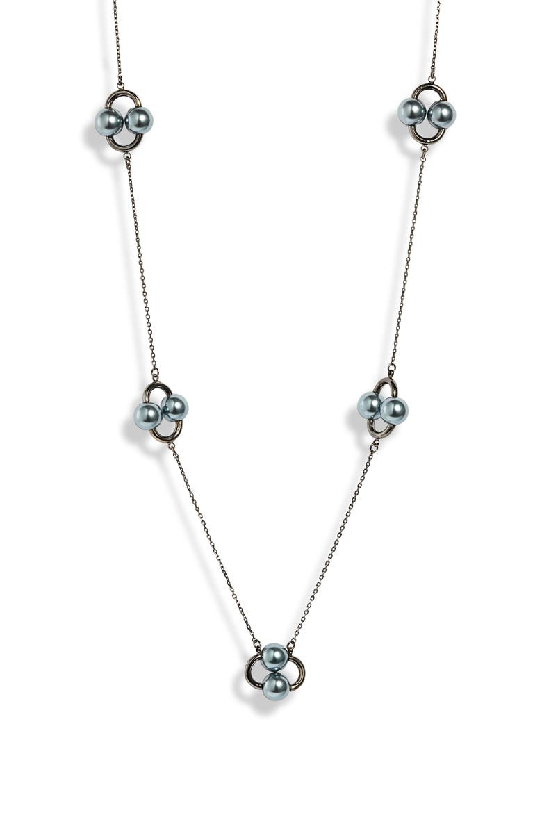 KATE SPADE NEW YORK nouveau pearls imitation pearl station necklace, Main, color, 020
