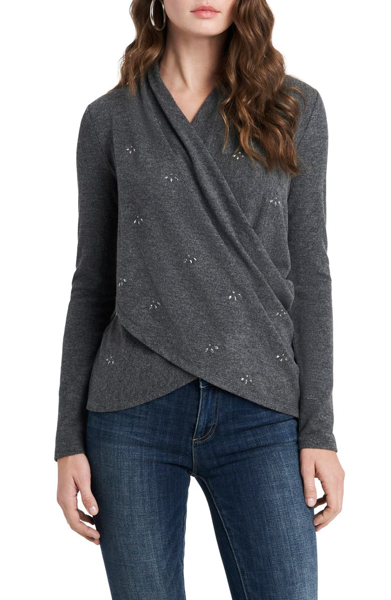 1.STATE Embellished Cross Front Top, Main, color, MEDIUM HEATHER GREY