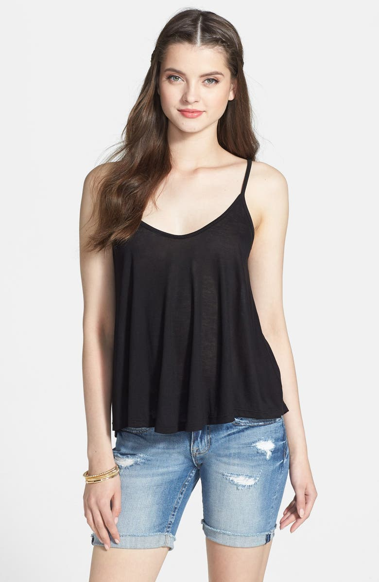 ALL IN FAVOR A-Line Camisole, Main, color, BLACK