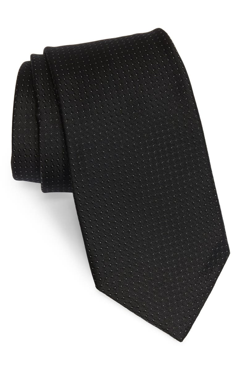 MICHAEL KORS Woven Silk Tie, Main, color, 002