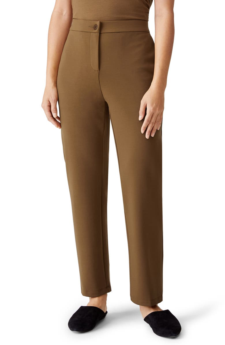 EILEEN FISHER Slouchy Tencel<sup>®</sup> Lyocell Blend Ankle Pants, Main, color, HAZEL