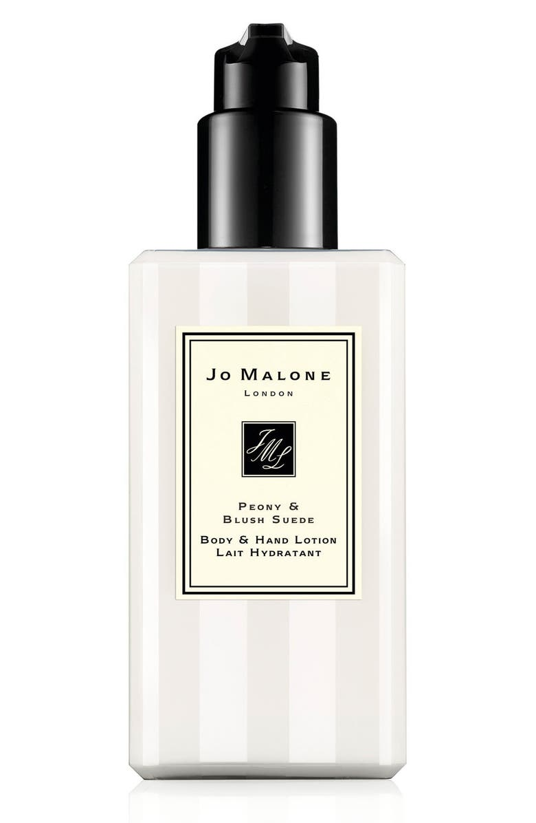 JO MALONE LONDON<SUP>™</SUP> Peony & Blush Suede Body & Hand Lotion, Main, color, 000