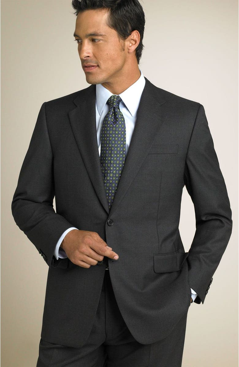 HICKEY FREEMAN 'Madison' Navy Loro Piana Wool Suit, Main, color, GRY