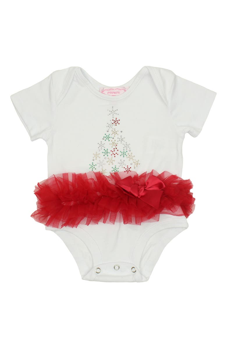 POPATU Snowflake Tree Tutu Bodysuit, Main, color, 606