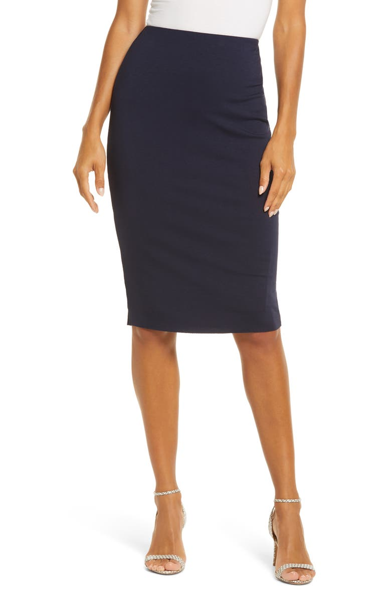 VINCE CAMUTO Stretch Knit Midi Tube Skirt, Main, color, 407