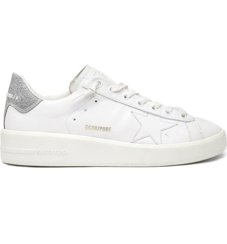 GOLDEN GOOSE PURESTAR Low Top Sneaker, Main, color, WHITE/ SILVER