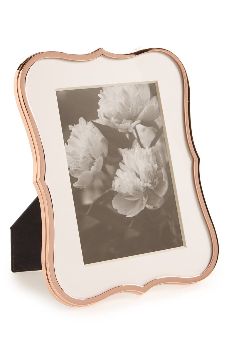 KATE SPADE NEW YORK crown point picture frame, Main, color, ROSE GOLD