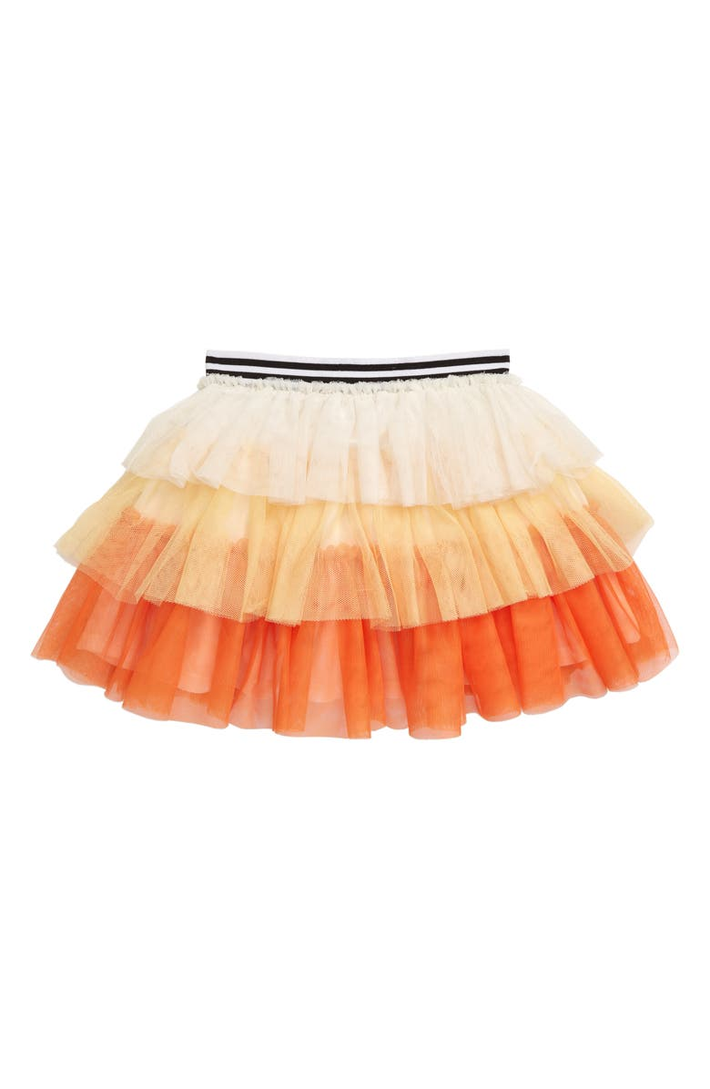 TRULY ME Candy Corn Tiered Tulle Skirt, Main, color, 740
