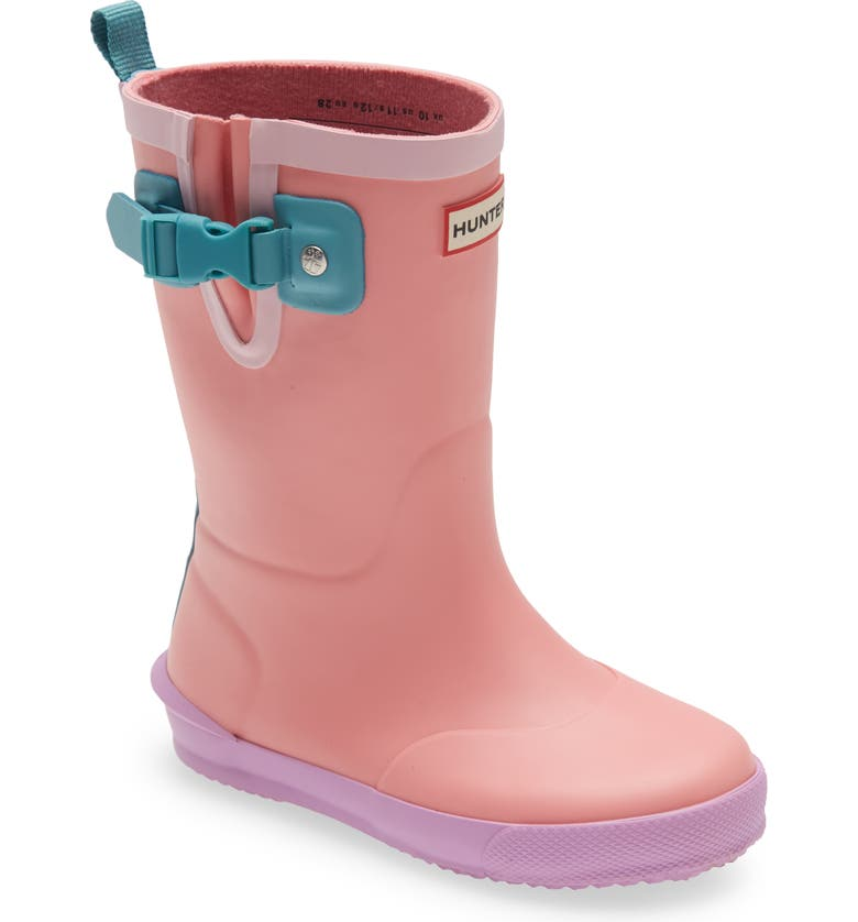 HUNTER Davison Rain Boot, Main, color, HUMMINGBIRD/ WAXFLOWER/ BLUE