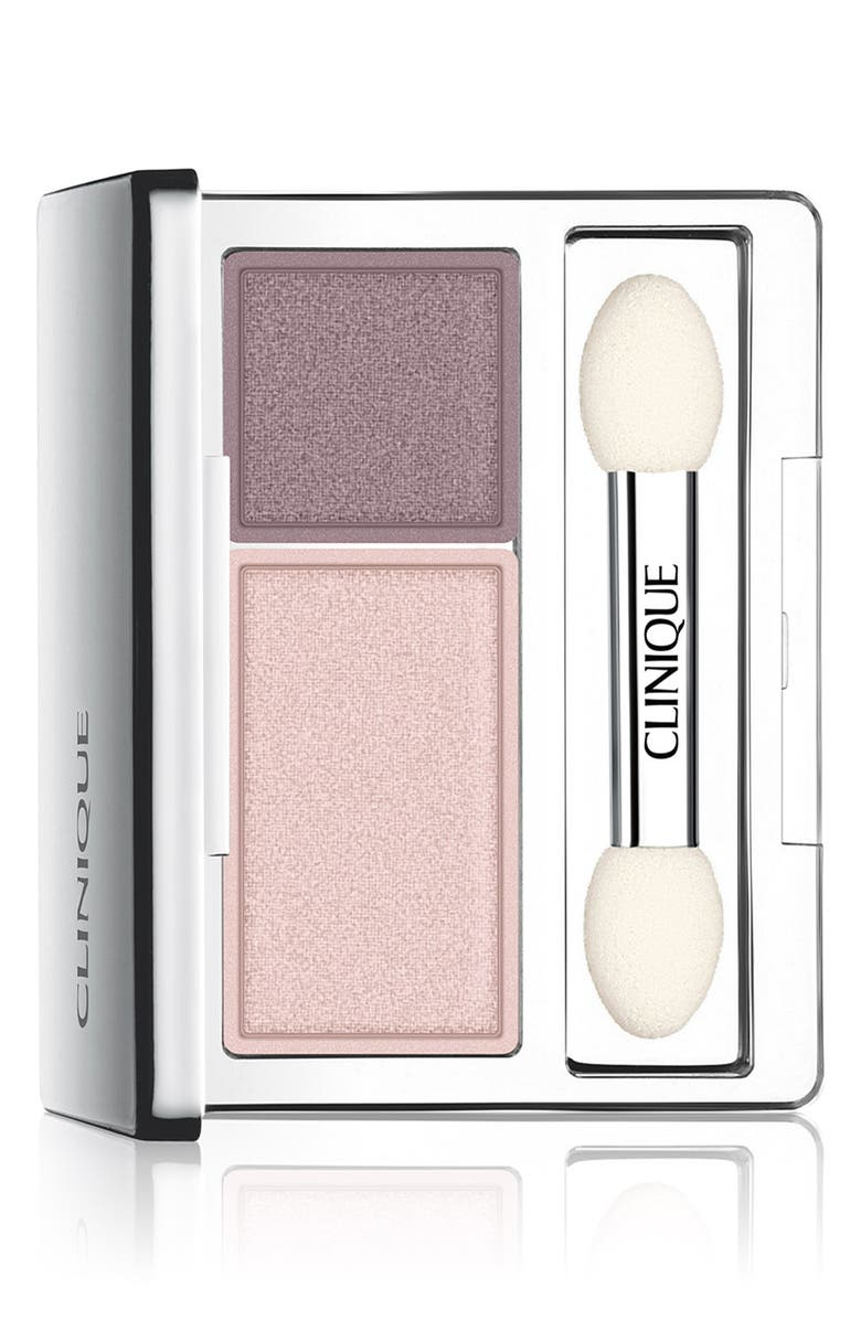 CLINIQUE All About Shadow Eyeshadow Duo, Main, color, TWILIGHT MAUVE/BRANDIED