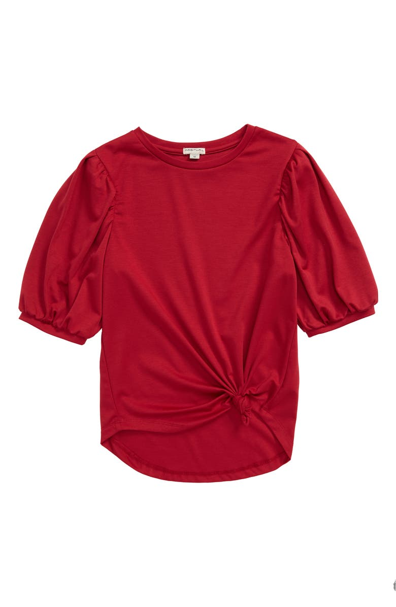 HABITUAL Puff Sleeve Twist Front Top, Main, color, 610