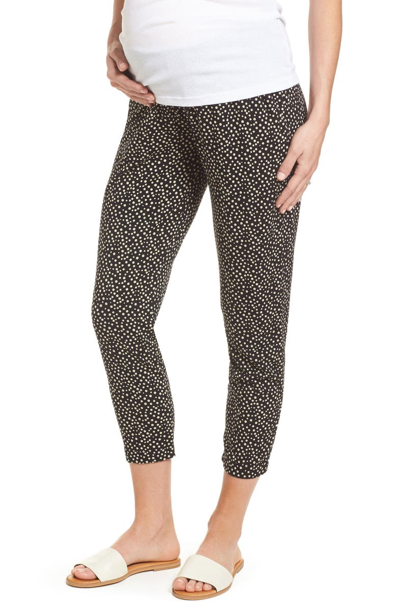 ISABELLA OLIVER Danni Maternity Tapered Trousers, Main, color, 001