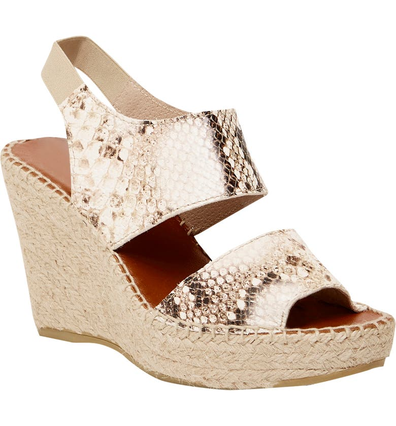 ANDRÉ ASSOUS 'Reese Hi' Sandal, Main, color, SAND SNAKE PRINT LEATHER